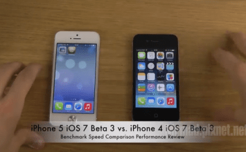 iPhone4 vs iphone5 跑iOS 7大PK