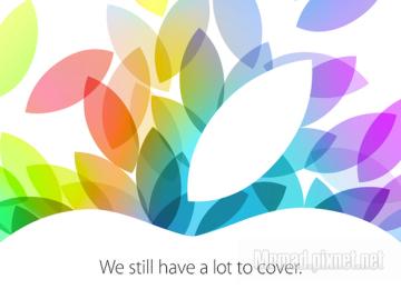 10月22日蘋果邀請函發出 iPad5、iPad mini2、OSX 10.9即將登場