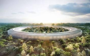 [Apple懶人包]帶你俯瞰2014年到2016年蘋果新總部「Apple Campus 2」太空飛船空拍面貌