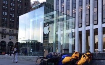 iPhone6未開賣!美「果粉」已在AppleStore旗艦店門外開始排隊