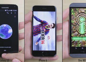 iPhone6運行速度再度玩爆hTC M8與Galaxy S5!