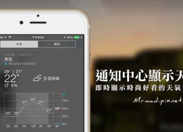 [iOS8應用]讓通知中心顯示超美天氣狀態方法