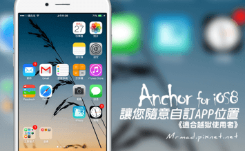 [Cydia for iOS7~iOS9必裝] 美化控最愛!隨意自訂APP位置工具「Anchor」