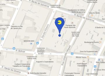 [iOS/Android教學]用手機也能玩愚人節Google地圖Pac-Man小精靈遊戲