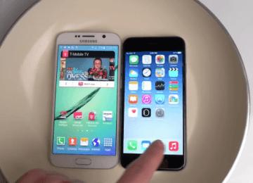 iPhone6 vs Galaxy S6對決!到底誰比較耐水耐熱?