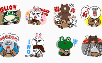 歡慶LINE Manga改版!LINE免費推出進擊的熊大貼圖