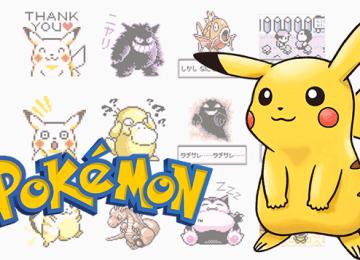 復古風再現!日本Pokémon有聲遊戲點陣LINE貼圖上架