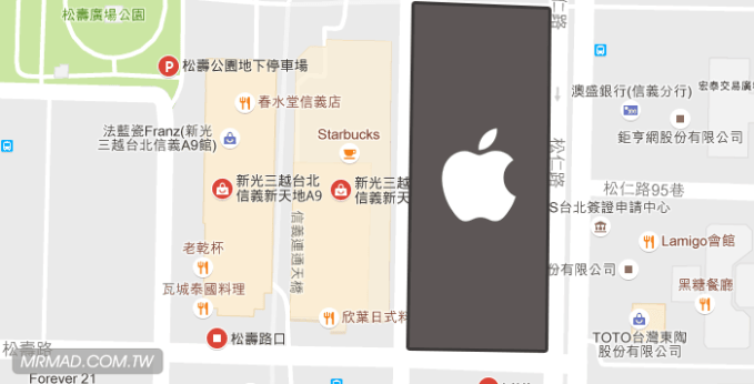 taiwan-apple-store-map