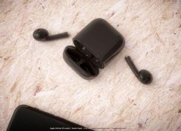 AirPods 推出曜石黑色版概念設計!與iPhone 7曜石黑超級絕配
