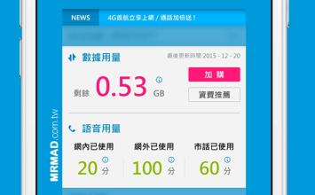 中華電信用戶必裝!一秒知道行動網路用量和當前費率