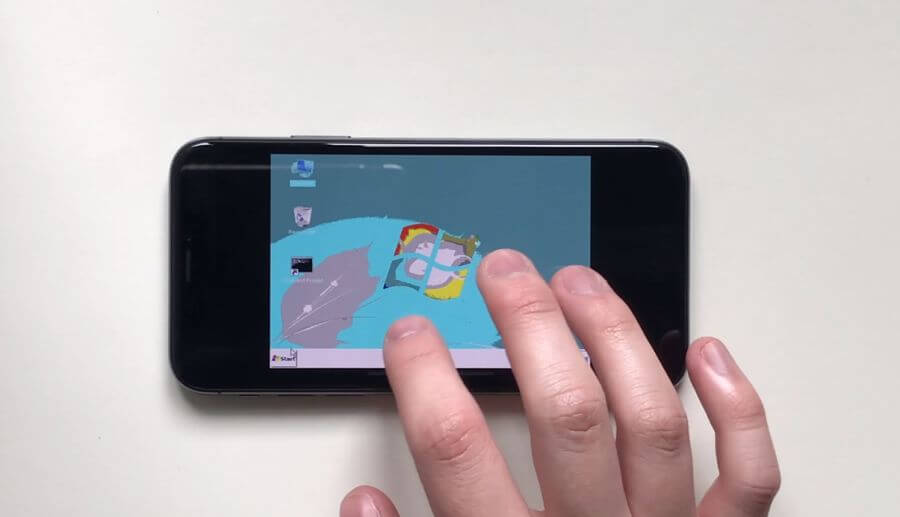 iPhone X 強到也能順利跑 Windows 95 和 Windows 7 - 瘋先生
