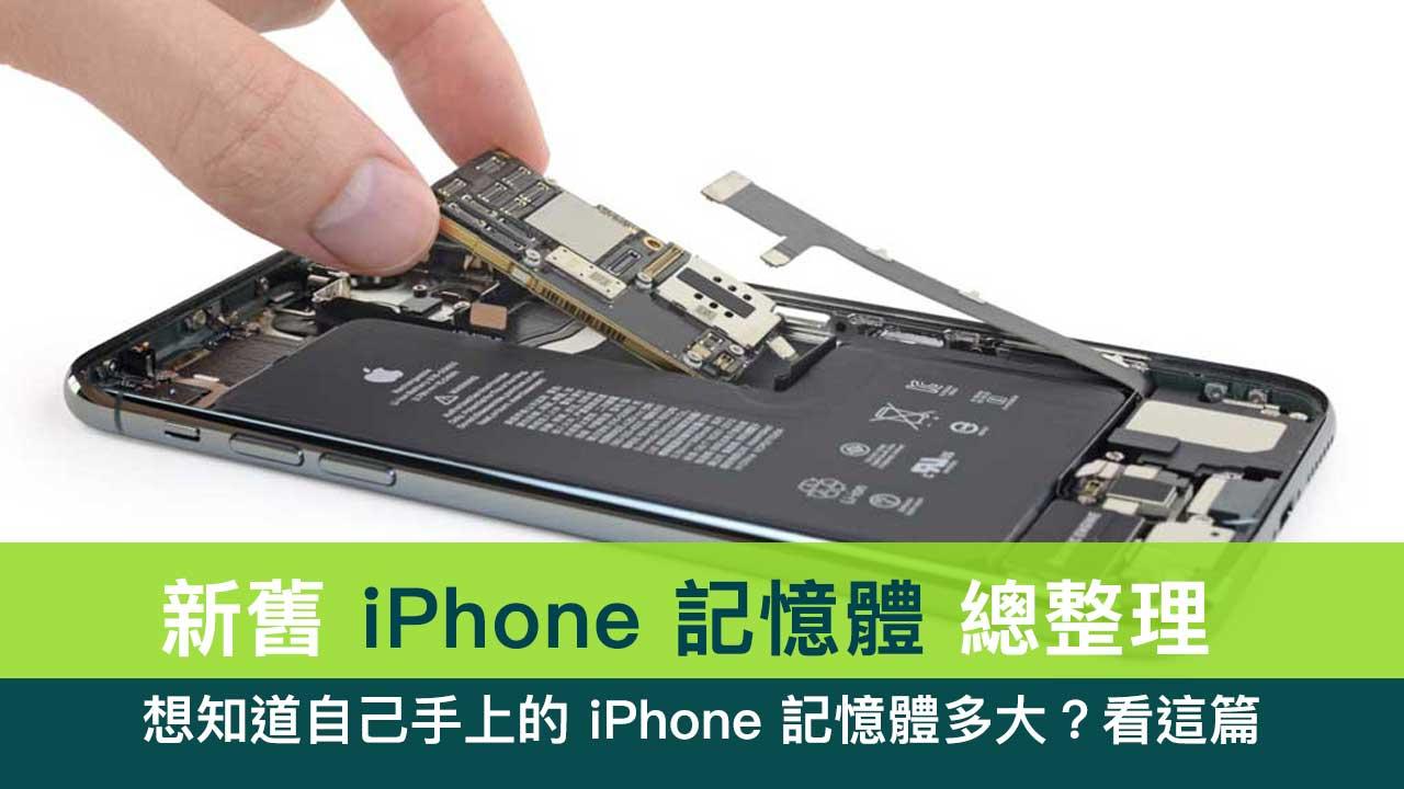 iPhone記憶體有多大?整理所有 iPhone 配置的RAM方便查詢 - 瘋先生