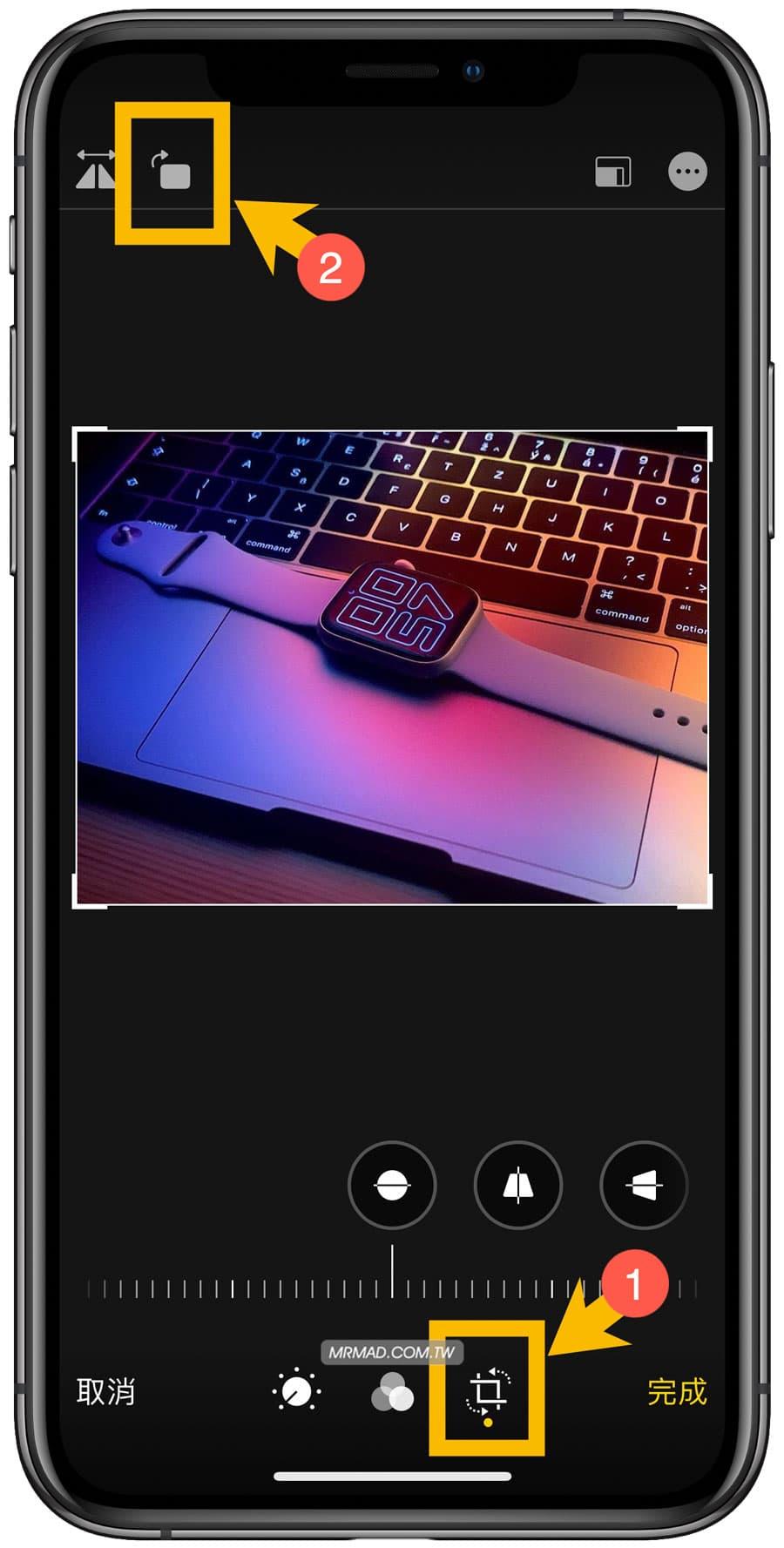 iPhone拍照左右相反?免捷徑靠 iOS 內建調整照片水平翻轉 - 瘋先生