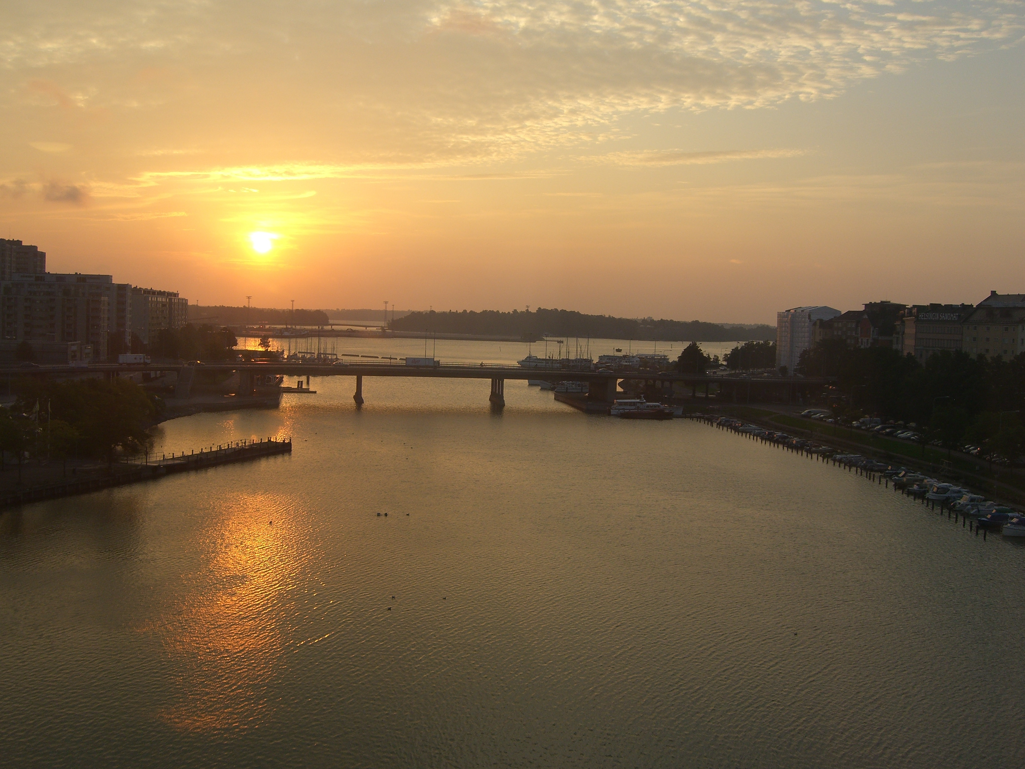 sunrise on the Baltic river