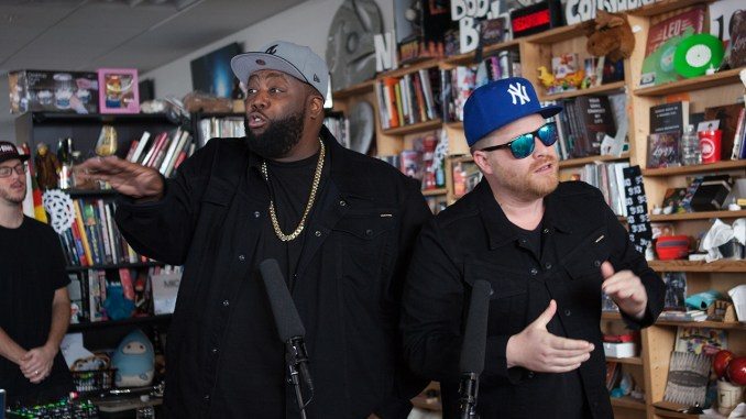 Killa Mike and Producer, El-P perform tracks from their latest project #RunTheJewels3 for #NPR #TinyDesk