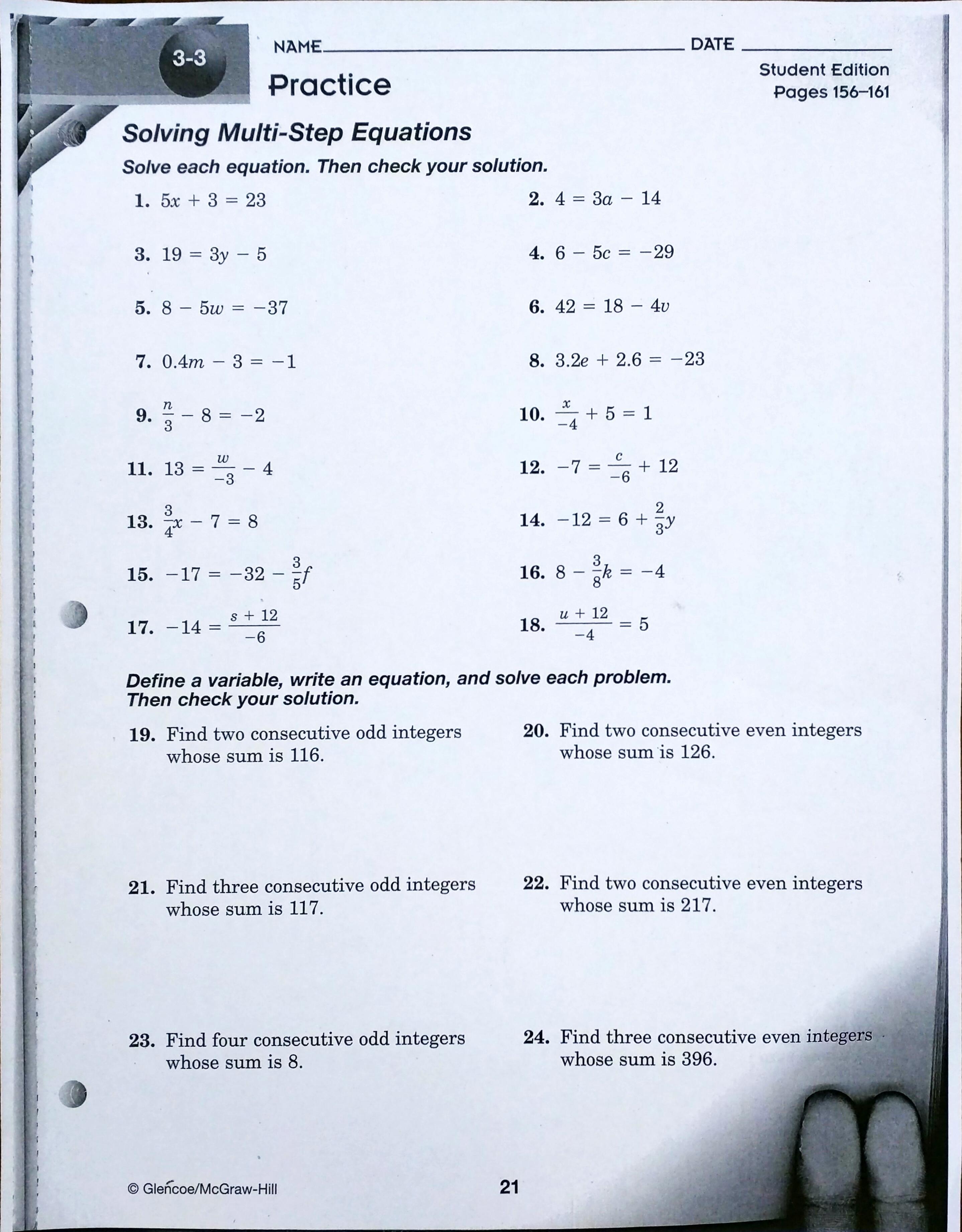 8th Grade Homework