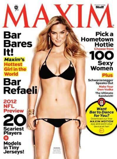 Bar Rafaeli on the cover of Maxim, Mr. Media Interviews