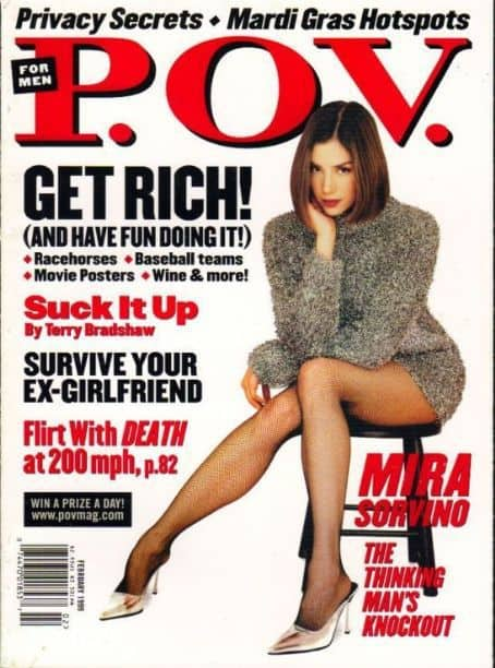P.O.V. Magazine, Mira Sorvino, Randall Lane, editor, Mr. Media Interviews