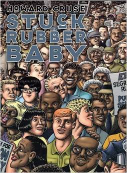 Stuck Rubber Baby Blues by Howard Cruse, graphic novel, Mr. Media Interviews