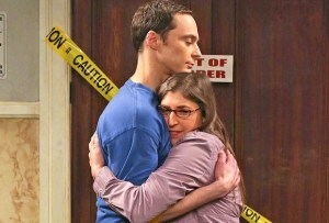 "Jim Parsons and Mayim Bialik co-star on ""The Big Bang Theory"" (CBS)"