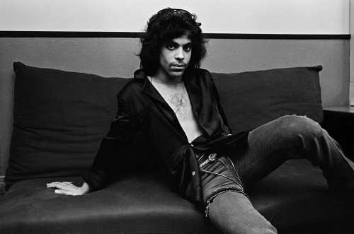 Prince backstage at The Bottom Line, 1980, photographed by Deborah Feingold