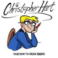 Christopher Hart, cartoonist, manga instructor, Mr. Media Interviews