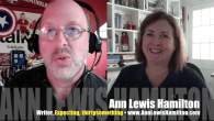 Today's Guest: Ann Lewis Hamilton, novelist, Expecting   Watch this exclusive Mr. Media interview with nn Lewis Hamilton, author of the comic pregnancy novel Expecting and writer of TV shows...