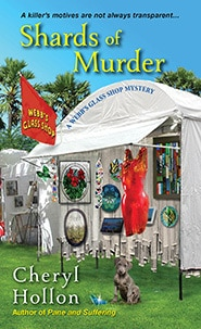 Shards of Murder: A Webb's Glass Shop Mystery by Cheryl Hollon, Mr. Media Interviews