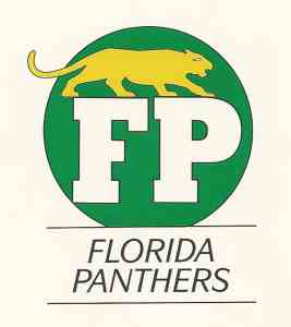 Florida Panthers logo, courtesy Frank Morsani, Mr. Media Interviews