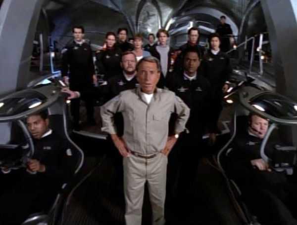 "The cast of ""seaQuest DSV,"" Mr. Media Interviews"