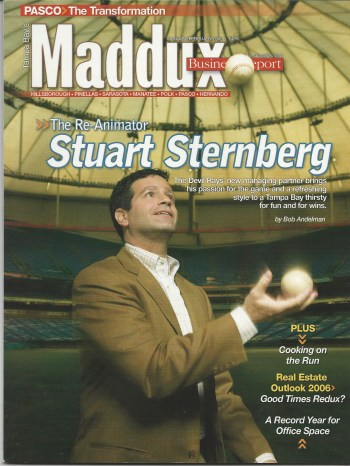 Stuart Sternberg, managing partner, Tampa Bay Rays, Maddux Business Report by Bob Andelman