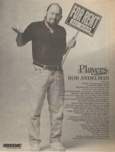 Bob Andelman, Players Magazine profile, photograph by Dennis Osborne