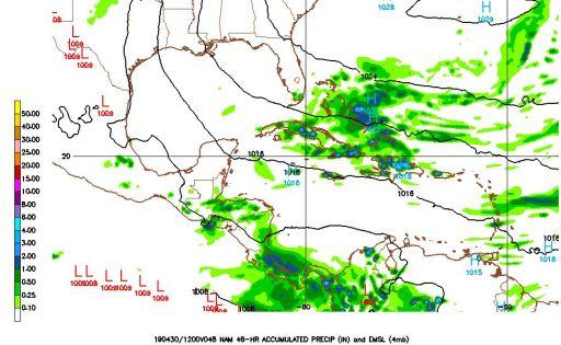 De fortes averses pourraient toucher plusieurs régions du pays aujourd'hui et demain 53