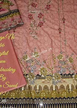 Bin Saeed Embroidered Lawn 2021 - Original
