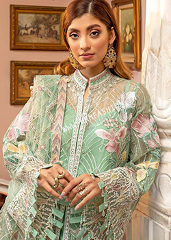 Luxulia Embroidered Chiffon By Adan's Libas - Original