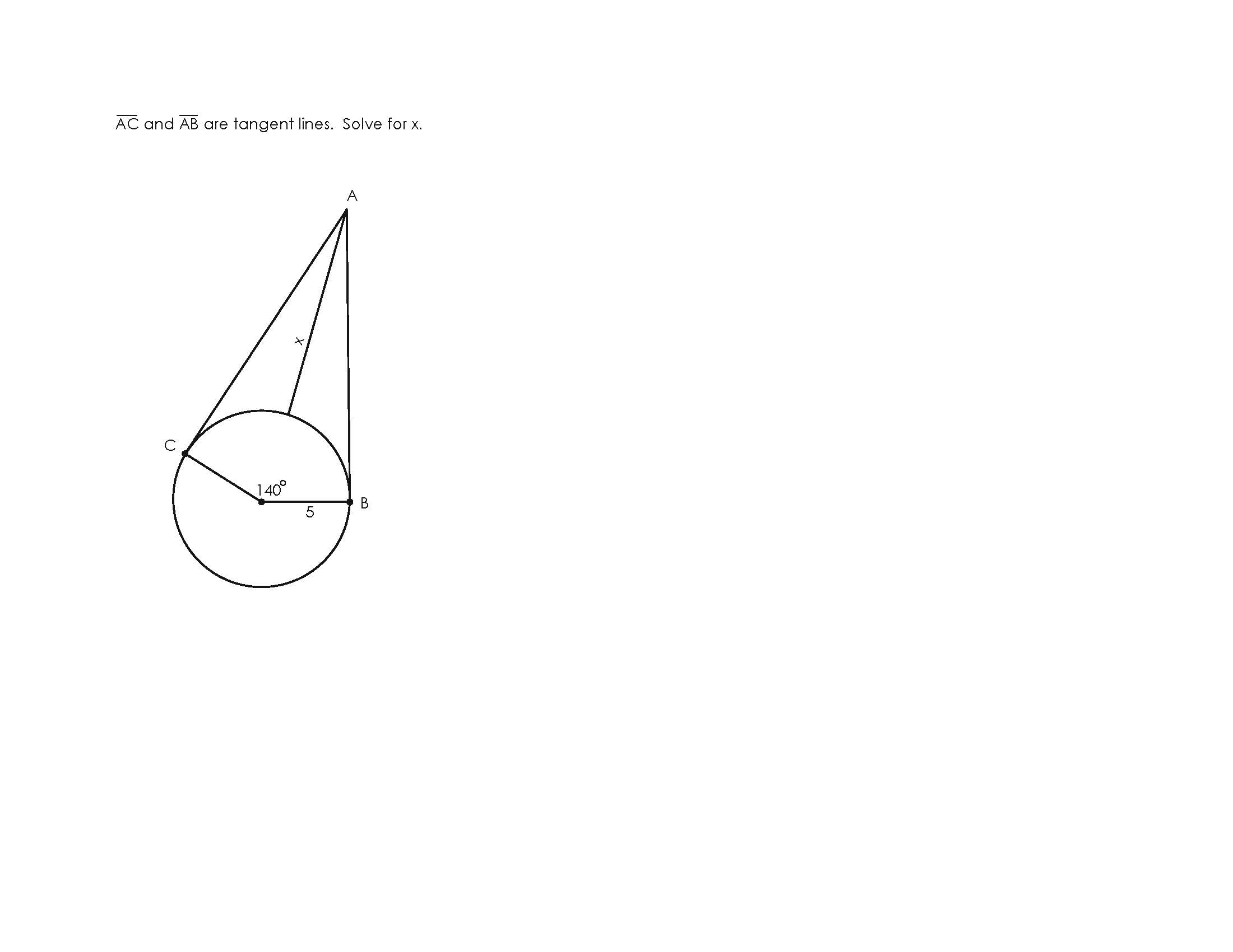 Tangent Line And Circle Problems