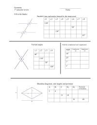 Geometry  First Semester Review Worksheet | mrmillermath