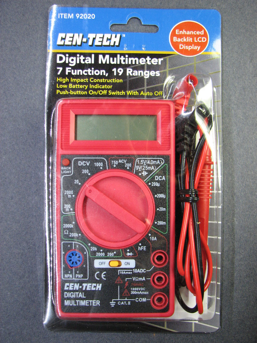 Cen Tech Multimeter Leads