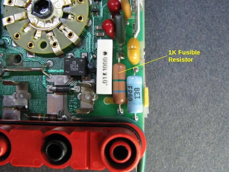Fluke 87 Fusible Resistor