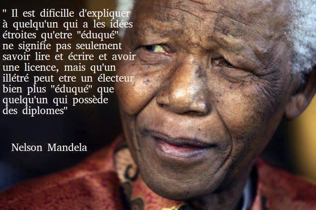 Petit Rappel Nelson Mandela A été L Un