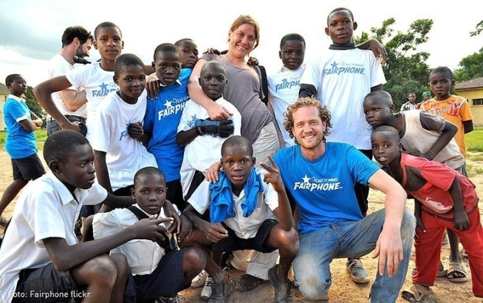 FairPhone soccer team with Bas and Anneke