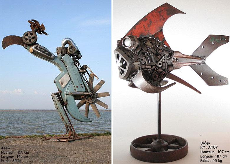 Fabuleux Ce français recycle la ferraille pour en faire d'imposantes créatures CG82