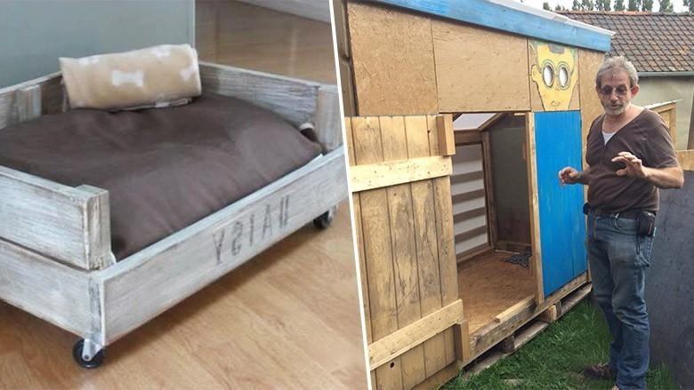 en belgique un couple recycle des palettes pour aider les sans abris. Black Bedroom Furniture Sets. Home Design Ideas