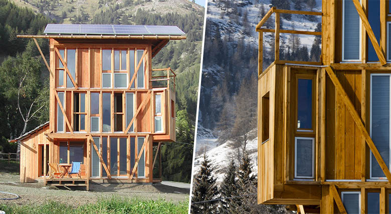 Casa solare tiny house solaire perchée à 1750 mètres