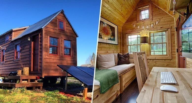 L 39 tonnante micro maison en bois de chris et malissa tack for Micro maison bois