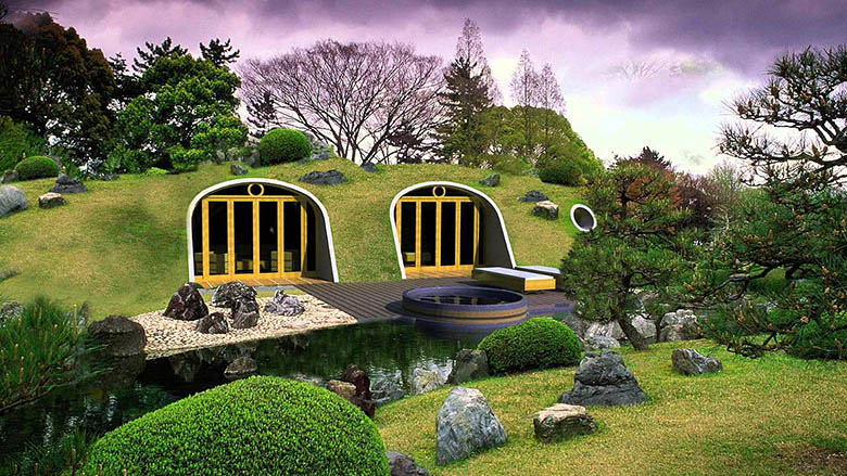 la maison de hobbit existe et elle est presque co friendly. Black Bedroom Furniture Sets. Home Design Ideas