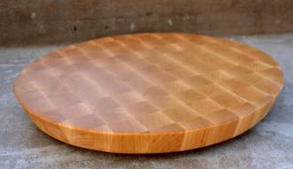 """# 14-06. Hard Maple edge grain. 16"""" diameter with a 20* cant on the outer edge. 16"""" x 1-1/2""""."""