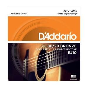 D'ADDARIO EJ10 80/20 BRONZE