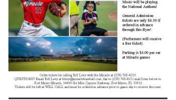 Mr Music Day At Miracle Baseball