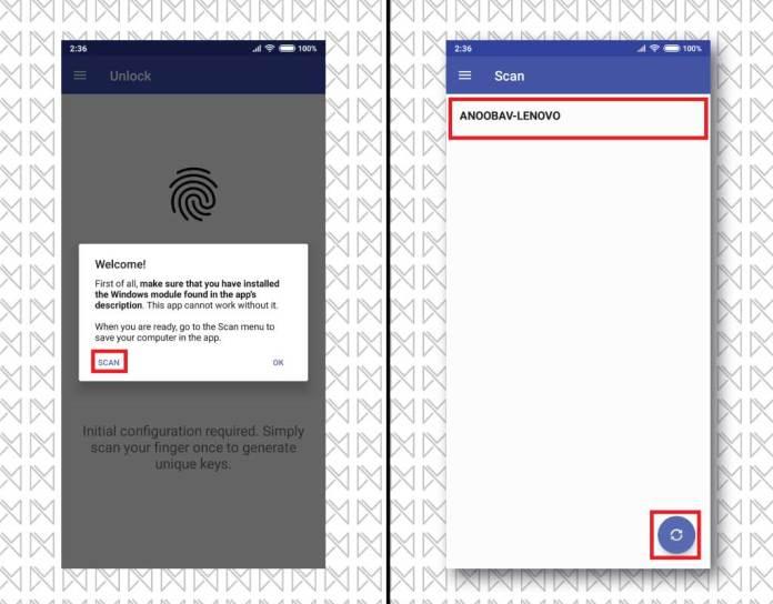unlock windows android fp 4
